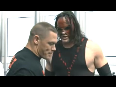 John Cena and Kane clash in Dubai during a press conference