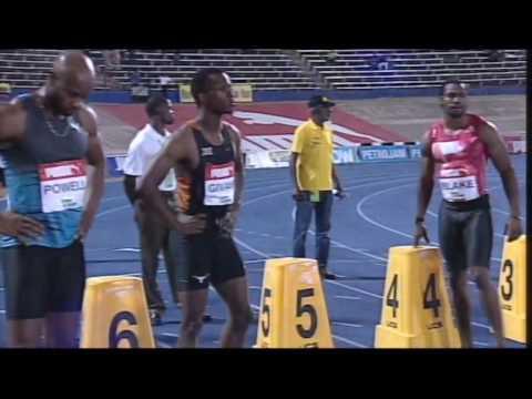 controversial 2016 100m final men Jamaica Olympics trials