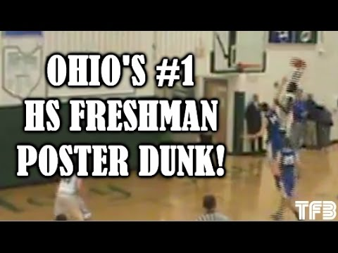 """Ohio's #1 Ranked HS 6'2"""" Freshman Dwayne Cohill puts 6'6"""" Defender on a POSTER!"""