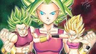 How to draw  Kefla /Kefura Ssj Fusion Caulifa y Kale. - Como dibujar a Kefura Dragon Ball Super 115