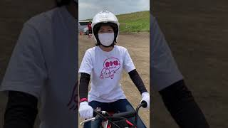 梅本まどか、小さなお友達と一緒にバイクレッスン!「ぽすくま親子バイク教室」 #shorts