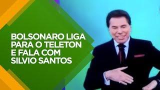 BOLSONARO LIGA PARA O TELETON E FALA COM SILVIO SANTOS
