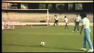 Maradona's first time in San Paolo stadium. Amazing free kick
