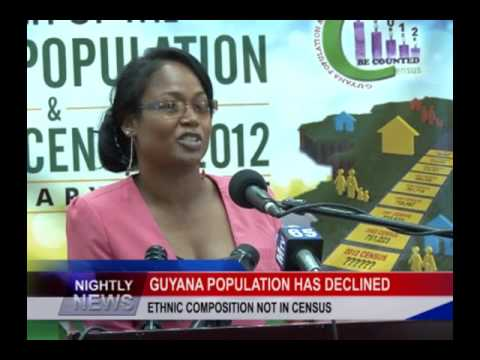 GUYANA POPULATION HAS DECLINED