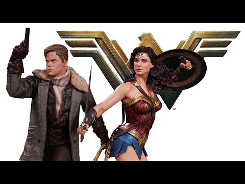 DC Collectibles - Wonder Woman and Steve Trevor Movie Statues