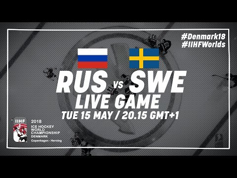 Russia - Sweden | Live | 2018 IIHF Ice Hockey World Championship
