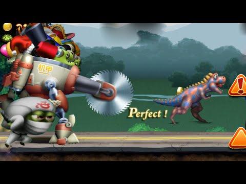 Zombie Tsunami max Level 197 - Mecha & Ninja Zombie fight with dinosaurs  