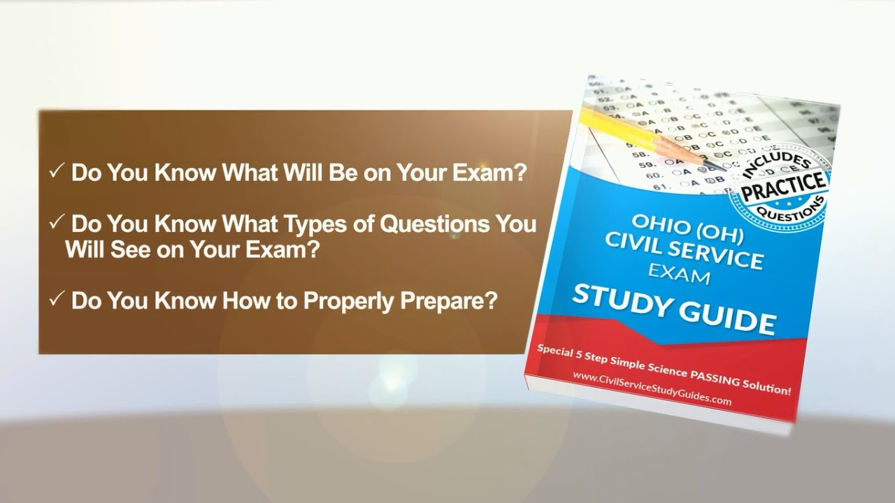 Ohio Exam Civil Service Test Study Guide