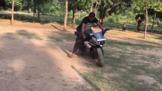 The hot bike ktm rc200 stunt in garden!!! Watch now