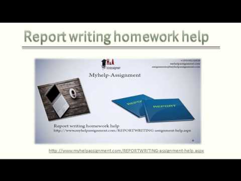 Report writing homework help