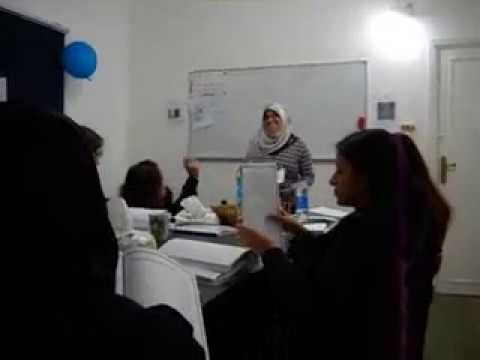 Hunter College - A group of Arabic students from Hunter college (inside the classroom) Part 1