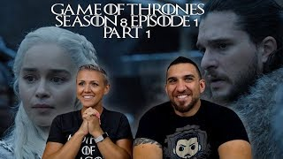Game of Thrones Season 8 Episode 1 'Winterfell' Part 1 REACTION!!
