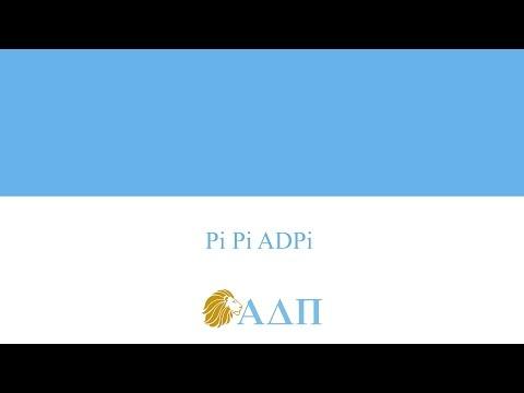 Pi Pi ADPi Alpha Delta Pi Song