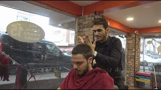 ASMR Turkish Barber Face,Head and Body Massage With Facial Care 222