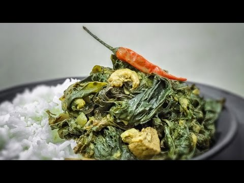 Taro Leaves in Coconut Milk – Laing – How to Cook