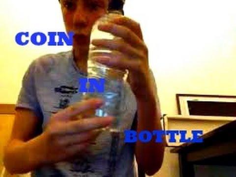 coin through bottle magic trick