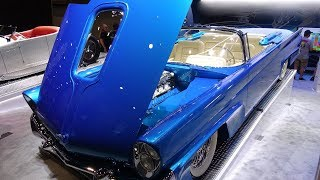 Dave Kindig's 940 HP Twin Supercharged 600 c.i. All Aluminum V-12 1958 Lincoln Revealed at SEMA