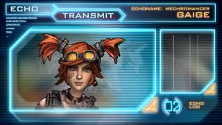 Borderlands 2 Gaige Full Echo Log (Mechromancer Backstory)