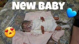 Best Box Opening Ever! Baby Born With A Bag On Head! Reborn Baby Doll! Real Life Preemie Baby Doll