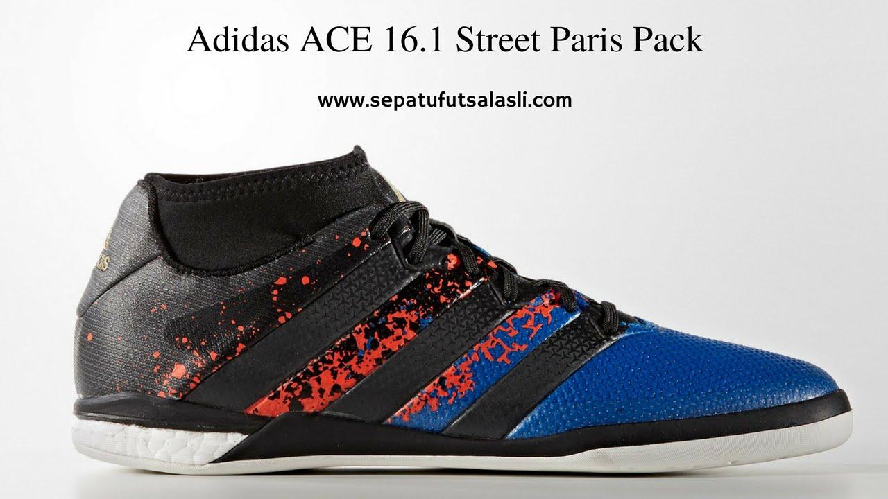 645af9215bd5 ... best review sepatu futsal adidas ace 16.1 street paris pack youtube  2d36d 258cc ...