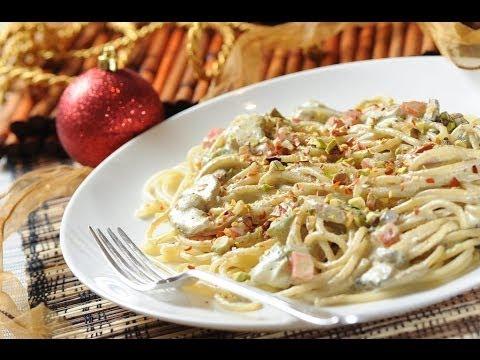 espagueti con pistaches spaghetti and pistachio