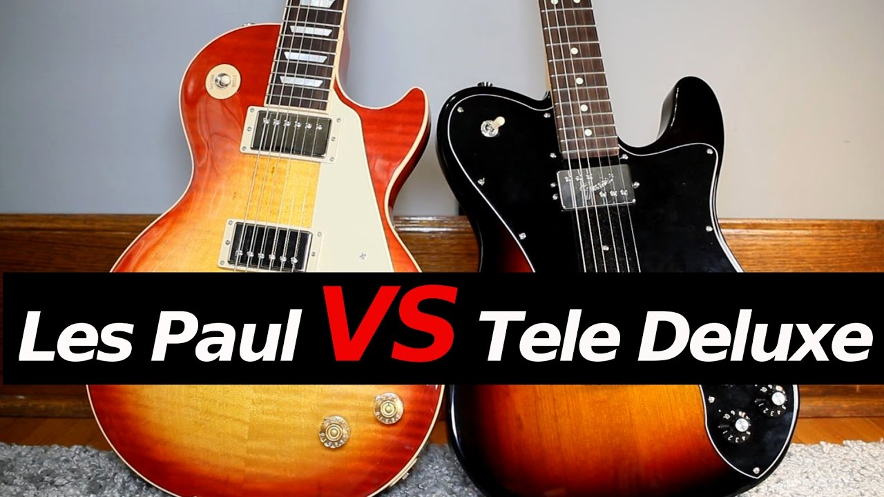 les paul vs telecaster deluxe guitar tone comparison youtube. Black Bedroom Furniture Sets. Home Design Ideas