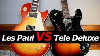 LES PAUL vs TELECASTER DELUXE - Guitar Tone Comparison!