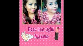 Deep blue night makeup