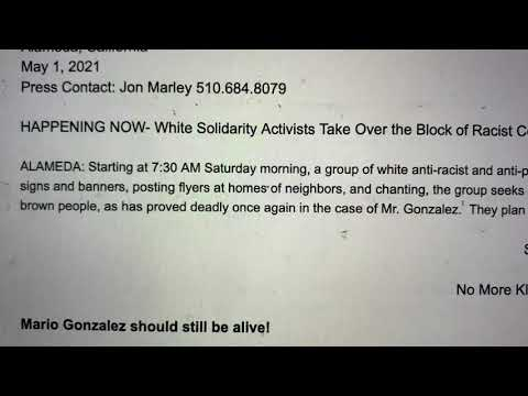 White Solidarity Activists Stage Alameda Block Take Over After Mario González Police Killing