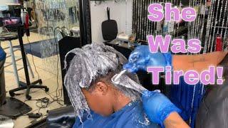 Virgin Relaxer on Long Hair  