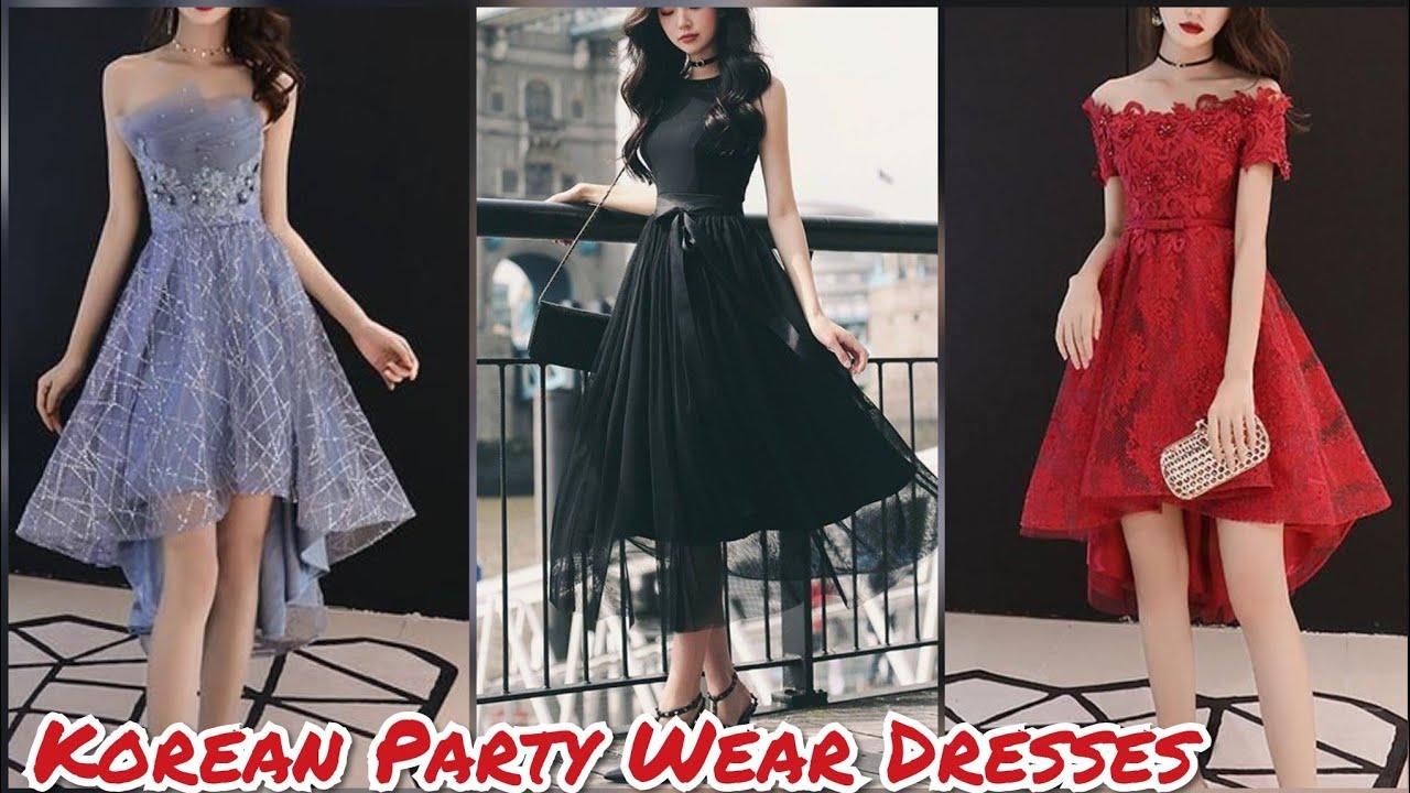 سريعون قارورة تبكي korean fabulous party dresses