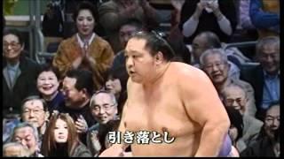 テレビ・ラジオ実況 テレビ正面解説は北の富士勝昭.