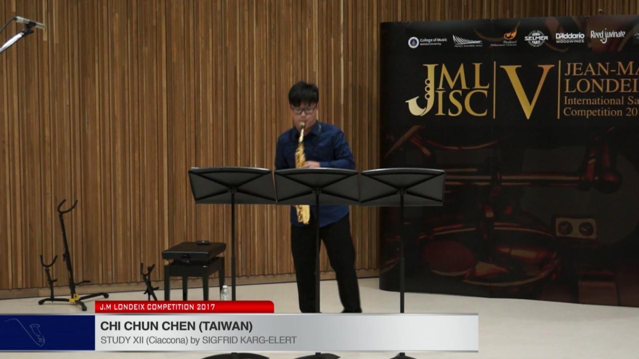 Londeix 2017 - Chi Chun Chen (Taiwan) - XII Ciaccona by Sigfrid Karg Elert