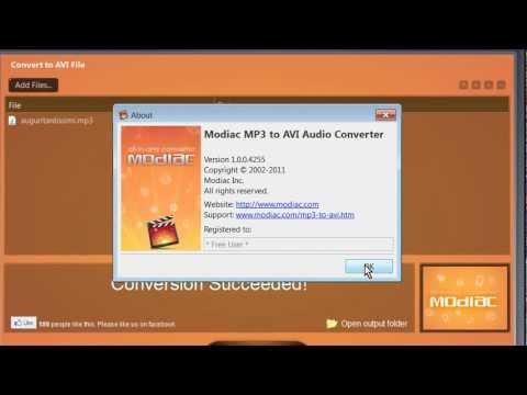 Modiac MP3 to AVI audio converter_portable