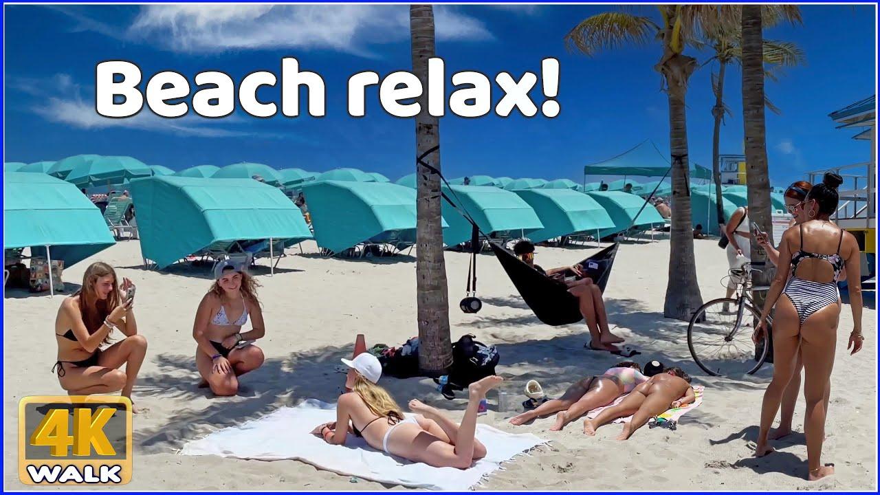 【4K】WALK Hollywood beach Broadwalk FLORIDA USA 4k video HDR