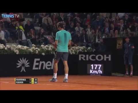 2015 Internazionali BNL d'Italia - Roger Federer Hot Shots v Stan Wawrinka in Rome