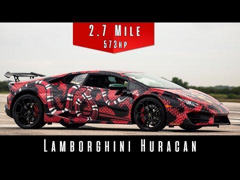 Lamborghini Huracan LP 580-2 Top Speed Run