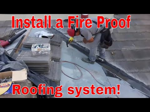 How to install a Fire Proof roofing system, install a class A fire rated roof system
