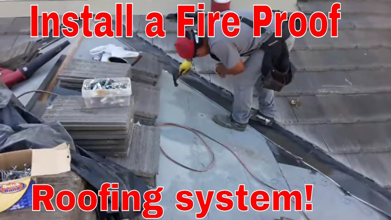 Fire Rated Roofing : How to install a fire proof roofing system