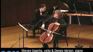 Steven Isserlis, cello & Denes Varjon, piano - Schumann: Abendlied Op.85, No.12 (arr. Joachim)