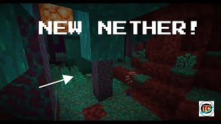 Minecraft but.. THE NETHER IS AWESOME! ( New Minecraft Nether Snapshot Preview) ✔