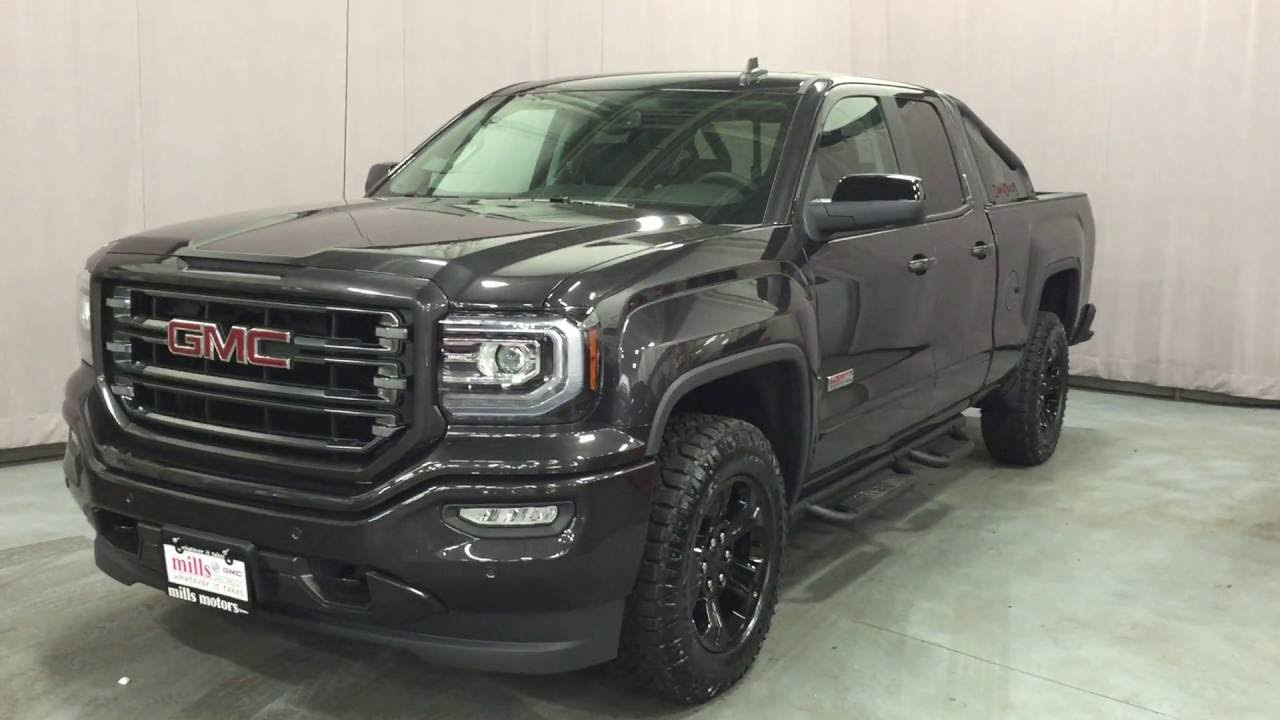 2016 gmc sierra 1500 slt all terrain x dub cab 4wd box sport bars black oshawa on stock 161128. Black Bedroom Furniture Sets. Home Design Ideas