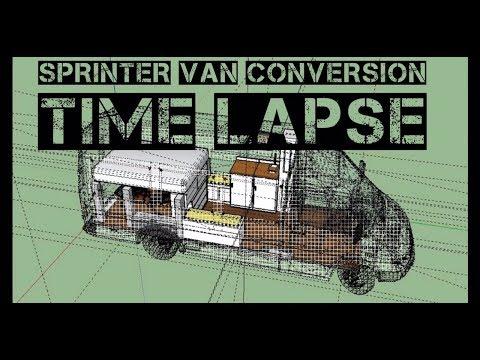 Our 2005 Sprinter Van Conversion Timelapse