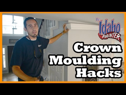 CROWN MOLDING TIPS  Home improvement tips installing crown and interior trim woodworking