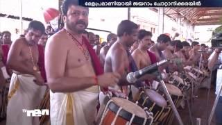 Jayaram leads 'Pavizhamallithara Melam' - Chottanikkara temple