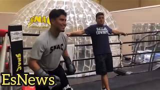Heavy Handed! Mikey Garcia With His New Guns After A Month At SNAC Gym