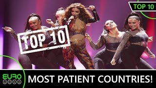EUROVISION TOP 10 : MOST PATIENT COUNTRIES