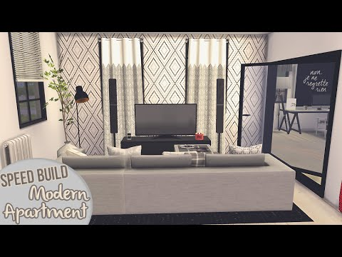 MODERN APARTMENT [APARTMENT BUILDING #1] - The Sims 4 Speed Build
