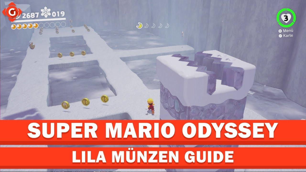 Super Mario Odyssey Alle Sammelobjekte Lila Münzen Polarland