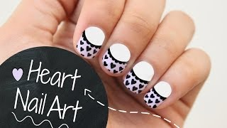 easy heart nail art for valentine s day